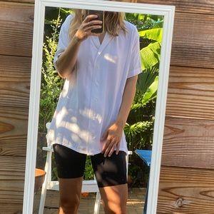 Acne Studios White Rellah Bowling Shirt